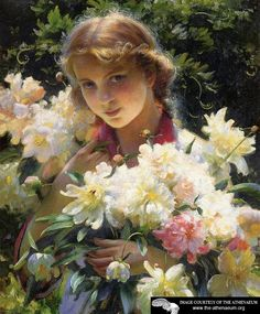 Peonies  Charles Courtney Curran
