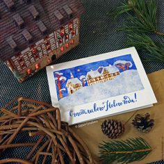 Darina Gulbina. Watercolors & lettering cards. Welcome instagram.com/daryagulbina  facebook.com/clubdaryagulbina  vk.com/clubdaryagulbina #watercolor #watercolors #newyear #happynewyear #christmascard #finearts #handdrawn #drawing #illustration #illustrations #card #cards #postcrossing #postcard #postcards #draw #handmade #crafts #craft #handycrafts #illustrator #calligraphy #lettering #handlettering #watercolorlettering #christmas #christmascards #cards #watercolor #сновымгодом #пейзаж