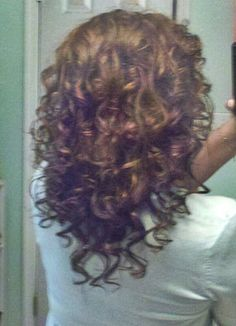 Curly hair <3 Mine is not this long yet, but I need these layers in my thick mop. Another maybe. No blow dryer required.