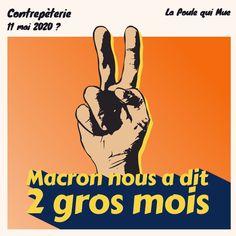 🐔 Macron nous a dit deux gros mois #contrepèterie #lapoulequimue #politique #macron #coronavirus
