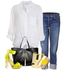 Nice and simple with a pop of color! I need neon's in my life like....NOW!