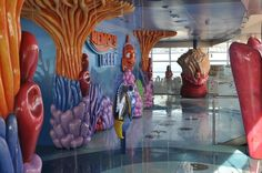 Nemo's Reef on the Disney Dream!! This is a splash and play area for young children on the pool deck!!