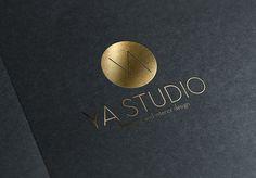 YA STUDIO logo and business card designed by our YA Studio branding team, Mariam M.