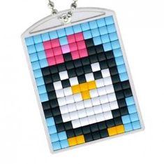 Knutselpakket Pixelhobby sleutelhanger pinguin