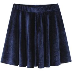 Navy High Waist Velvet Skater Skirt ($25) ❤ liked on Polyvore featuring skirts, high waisted circle skirt, high-waist skirt, high-waisted skirts, circle skirt and flared skirt