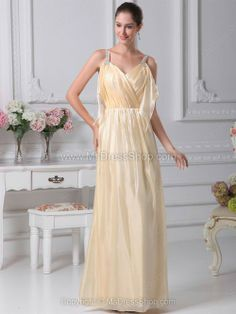 Beige Floor-Length Silk-like Satin V-neck Beading Bridesmaid Dresses -Wedding & Events-Wedding Party Dresses-Bridesmaid Dresses-V-Neck Bridesmaid Dresses Affordable Wedding Dresses, Cheap Wedding Dress, Wedding Party Dresses, Prom Dress 2014, Beaded Prom Dress, Dresses 2014, Stunning Prom Dresses, Bridesmaid Dresses Plus Size, Perfect Prom Dress
