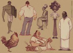 Character Design - Humans - DATTARAJ KAMAT Animation art: Sketches