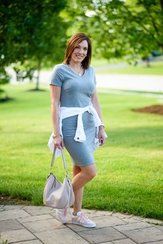 8f42920642b T-Shirt Dress Outfit (A Nice Alternative to Shorts)