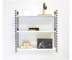Tomado boekenrek Avery, wit/zwart, B 70 cm