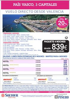 País Vasco, 3 Capitales, salidas desde Valencia - Mayo y Junio ultimo minuto - http://zocotours.com/pais-vasco-3-capitales-salidas-desde-valencia-mayo-y-junio-ultimo-minuto/