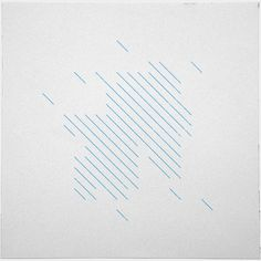 #198 Summer rain – This is #194's sister piece, can you see how they relate? – A new minimal geometric composition each day