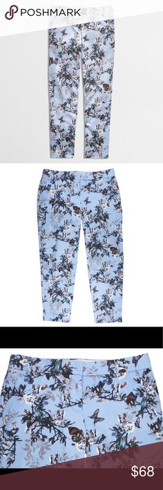"""New JCREW Crop Skimmer Pants Botanical Bird - RARE NWOT. - Rare HTF JCREW Item!! These new cropped slimmer pants in botanical bird print from JCREW feature a zip tab closure and cropped inseam. Made of a cotton blend. Measures: waist: 32"""", rise: 8.5"""", hips: 49"""", inseam: 27"""" J. Crew Pants Ankle & Cropped"""