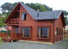 :: CASUR :: - Casas Prefabricadas Modelo Coliumo 3000 Cabin House Plans, Log Cabin Homes, Modern House Plans, Timber House, Wooden House, Style At Home, Cabin Design, House Design, Garage Guest House