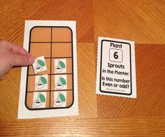 """A fun introduction to even and odd numbers using creative """"ten frame"""" planters! Plus more even & odd activities and worksheets!"""
