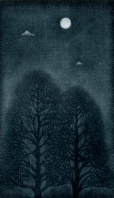 Tree, mezzotint by Toru Iwaya