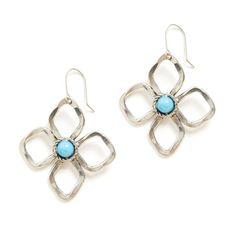 Stitch Fix Summer Accessories | Flores Flower Drop Earrings