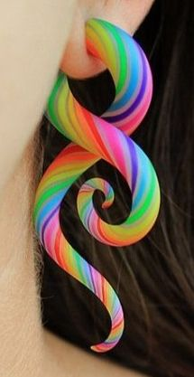 Colorful piercing