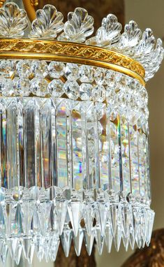 Crystal Chandelier Lighting, Chandelier For Sale, Antique Chandelier, Chandelier Lamp, Lamps, Baccarat Crystal, Mirror With Lights, Interior Lighting, Vintage Fashion