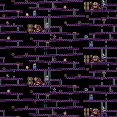 Nintendo Donkey Kong Jumpman's Ascent Game Scenes Gamers Video Game Cotton Fabric by Springs Creative