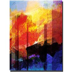 @Overstock - Artist: Adam Kadmos  Title: City Abstract  Product type: Gallery-wrapped canvas arthttp://www.overstock.com/Home-Garden/Adam-Kadmos-City-Abstract-Canvas-Art/4739475/product.html?CID=214117 $37.99