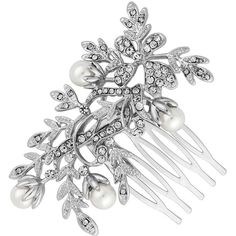 Jon Richard Leaf Entwined Hair Comb (446.790 IDR) ❤ liked on Polyvore featuring accessories, hair accessories, jewelry, jewels, jeweled hair combs, hair combs, jon richard, jeweled hair accessories and hair comb accessories