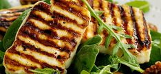 9 ways to serve Halloumi Cheese This Cypriot-origin cheese is loved for its robust texture and deeply savoury flavour - plus its capacity to be grilled, barbecued or fried without losing its shape. We show you how to cook halloumi. Bbc Good Food Recipes, Greek Recipes, Veggie Recipes, Vegetarian Recipes, Cooking Recipes, Healthy Recipes, Veggie Meals, Healthy Food Blogs, Appetizers