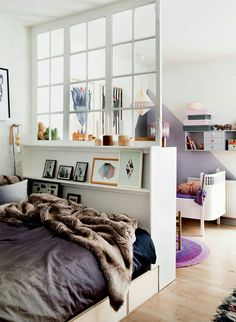 Hipster bedroom interior design                                                                                                                                                      More