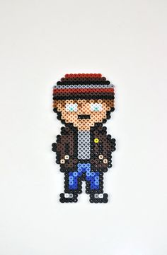Breaking Bead Badger perler bead magnet by TheCraftyChimera