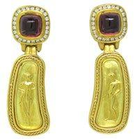 Seidengang Pink Tourmaline Diamond 18k Gold Earrings