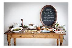 small framed chalkboard 'menu' for parties - easy DIY