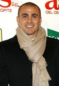 """Fabio Cannavaro ~  retired Italian footballer. He is considered one of the greatest defenders of his generation and was given the name """"Muro di Berlino,"""" which means """"The Berlin Wall,"""" by Italian supporters. 39 year old"""