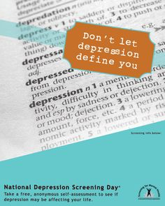 Depression does NOT define me!