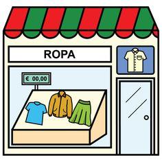 Pictogramas ARASAAC - Tienda de ropa.