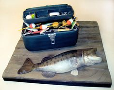 Wedding Fishing Cakes For Men | Tackle Box | Charm City Cakes West