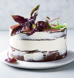 Easy naked chocolate and basil cake with cream cheese icing   Woolworths TASTE