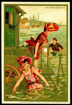 #Vintage postcard- Seaside Scenes