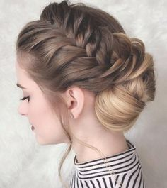 side french braided updo