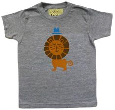 Child's Lion Hand Printed T Shirt