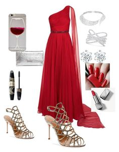 """Award show"" by safiyat-aminu on Polyvore featuring Jovani, Schutz, Loeffler Randall, Messika, Effy Jewelry, Burberry and Max Factor"