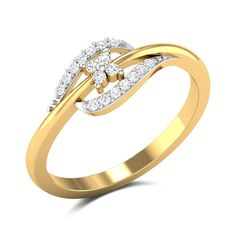 This and gold ring features a curvy design and showcases a diamond studded centrepiece to add to its appeal. An understated addition to your collection, this ring is sure to win your heart. Gold Rings Jewelry, Womens Jewelry Rings, Wolf Jewelry, Jewelery, Gold Ring Designs, Gold Bangles Design, Diamond Rings, Diamond Jewelry, Diamond Eyes