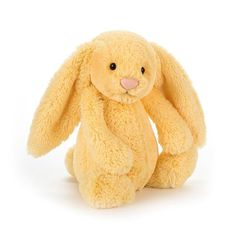Soft toys from Jellycat never fail to delight, and with good reason too. Made from super soft plush and featuring an adorable, friendly face that's as soft as its fur, the Jellycat Bashful Lemon Medium Bunny is a Spring sweetie that's just as sweet as lem Soft Toys Making, Bunny Blanket, Little Red Hen, Cute Stuffed Animals, Jellycat, Bunny Plush, Baby Toys, Bunnies, Yellow