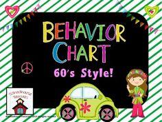 $- behavior chart with a groovy 60's theme