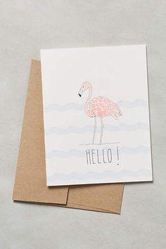 Hello Flamingo Card