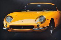 Paolo Brugiolo dipinto olio su tela automobile iperrealista - fluidofiume galleria d'arte Trieste