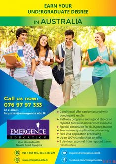 Study in Australia after your A/L. Free counseling and visa application processing.இடங்கள்: ராஜகிரிய