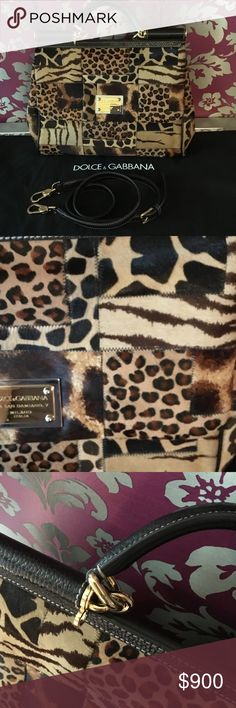 New Cheetah fur  Dolce & Gabbana bag Brand new with tag cheetah fur Dolce&Gabbana bag with strap can be cross body PIECE!! Will be checked before purchasing by Poshmark! Reduced a lot will be checked by Poshmark before purchasing Louis Vuitton Bags Shoulder Bags