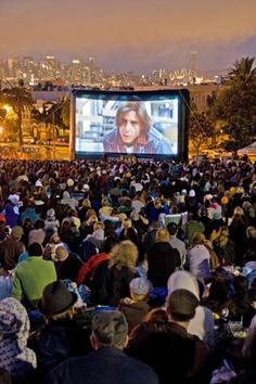 Movie night in Dolores Park...