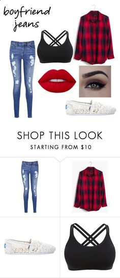 Ex-Boyfriend Jeans by i1am1rogue1 ❤ liked on Polyvore featuring Tommy Hilfiger, Madewell, TOMS and Lime Crime