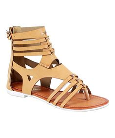 This Camel Cutout Roma Gladiator Sandal is perfect! Gladiator Flats, Painted Toes, Camel, Shoes, Closure, Zip, Style, Products, Fashion