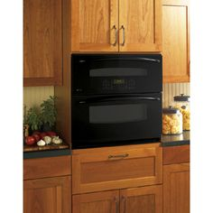 GE Profile Self-Cleaning Convection Double Electric Wall Oven (Black) (Common: 30-in; Actual 29.75-in)